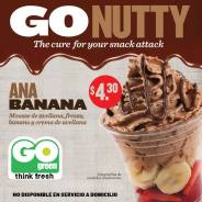 GO nutty ANA banana mousse de avellana GO GREEN el salvador