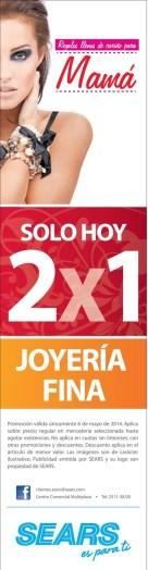 Joyeria Fina promocion 2x1 SEARS - 06may14