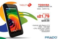 PRADO ofertas TABLET TOSHIBA ASPO1SL - 21may14