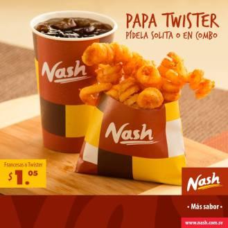 Papas fritas francesas o twister NASH