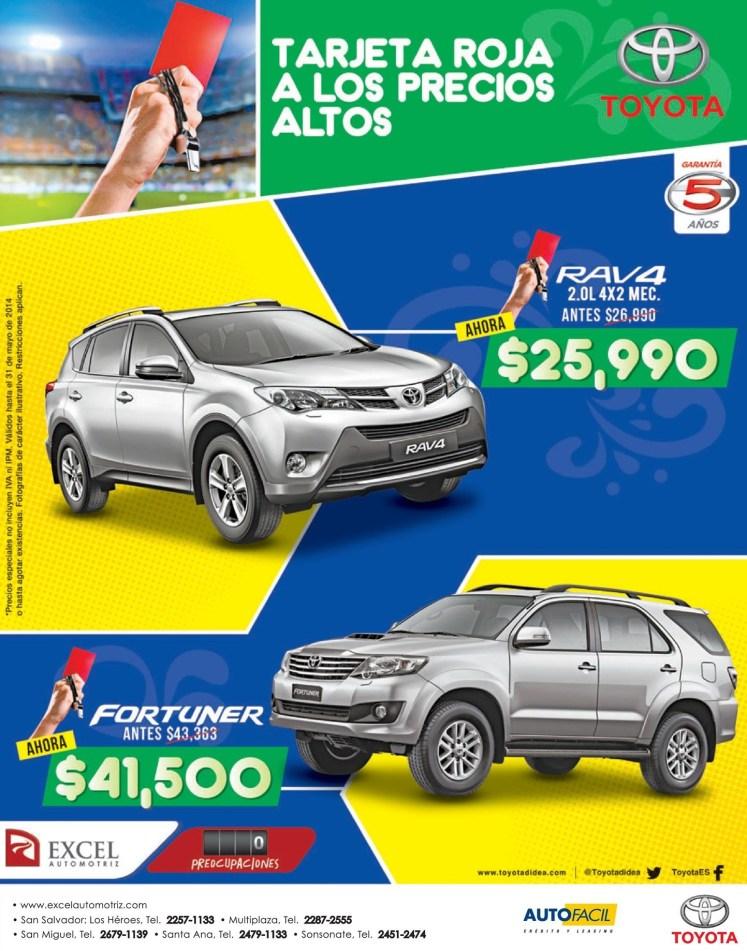 SAVINGS Toyota FORTUNER 2014 - 13may14