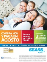 Solo en SEARS compras hoy pagas en Agosto - 24may14