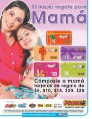Tarjetas de regalo para MAMA gracias almacens BOMBA - 08may14
