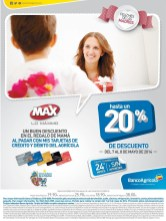 Tiendas MAX descuento tarjeta BANCO Agricola - 07may14