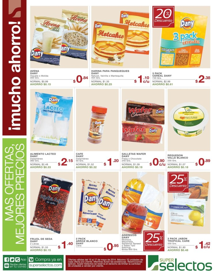 Tree pack cereales y aderezos - 15may14