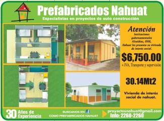 casas ranchos bungalos PREfabricados NAHUAT