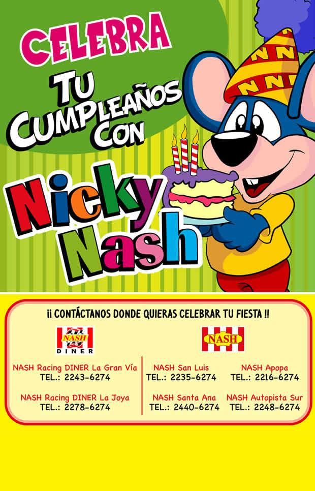 celebra tu cumpleaños con NICKY NASH el slavador