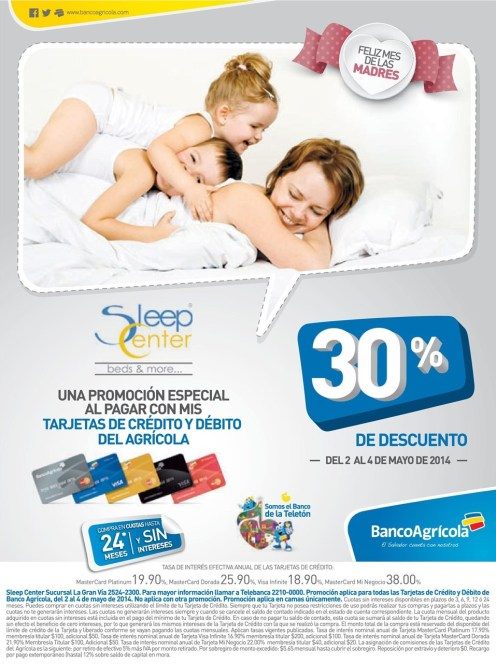 feliz mes de las madres SLEEP CENTER - 02may14