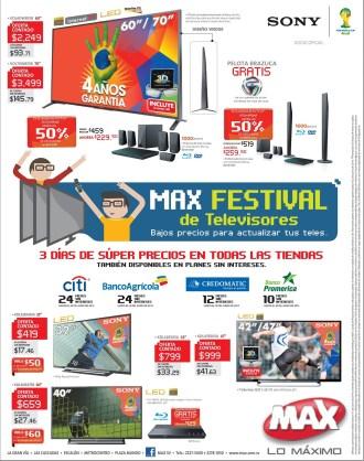 ofertas MAX festival de televisores bajos precios - 30may14