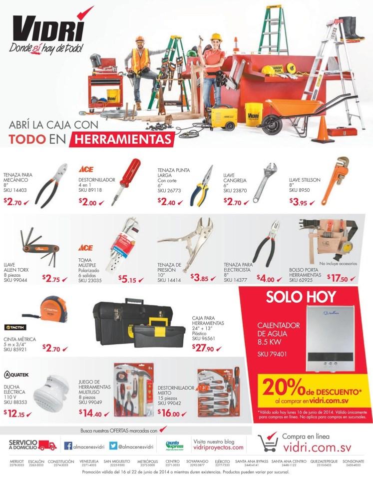 Abri tu caja de herramienta COMPLETA Vidri ferreteria - 16jun14