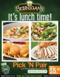 BENNIGANS its lunch time PROMOCIONES - 10jun14