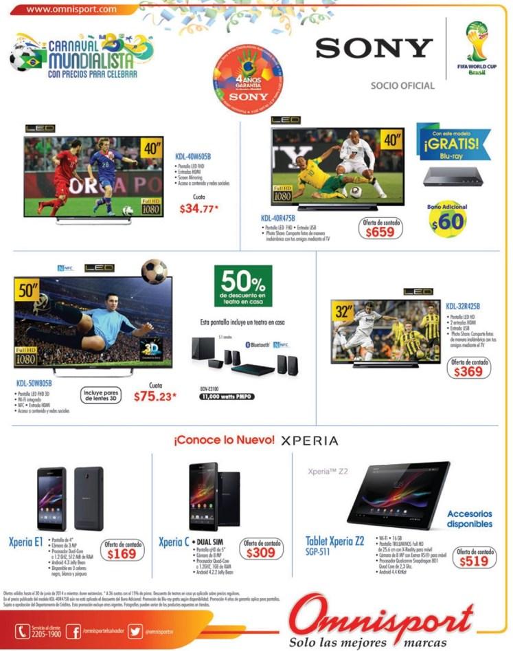 Conoce lo nuevos productos XPERIA sony ofertas omnisport - 18jun14