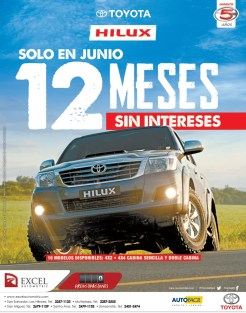 Doce meses sin interes TOYOTA HILUX - 25jun14