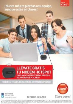 Dos meses de servicio gratis CLARO modem hotspot