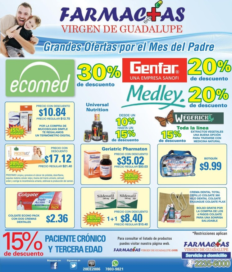 Grandes ofertas por el mes del padre FARMACIAS - 11jun14