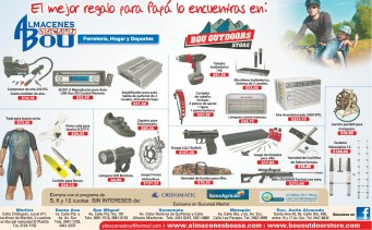 Ofertas Almacenes BOU ferreteria hogar deportes para PAPA - 16jun14