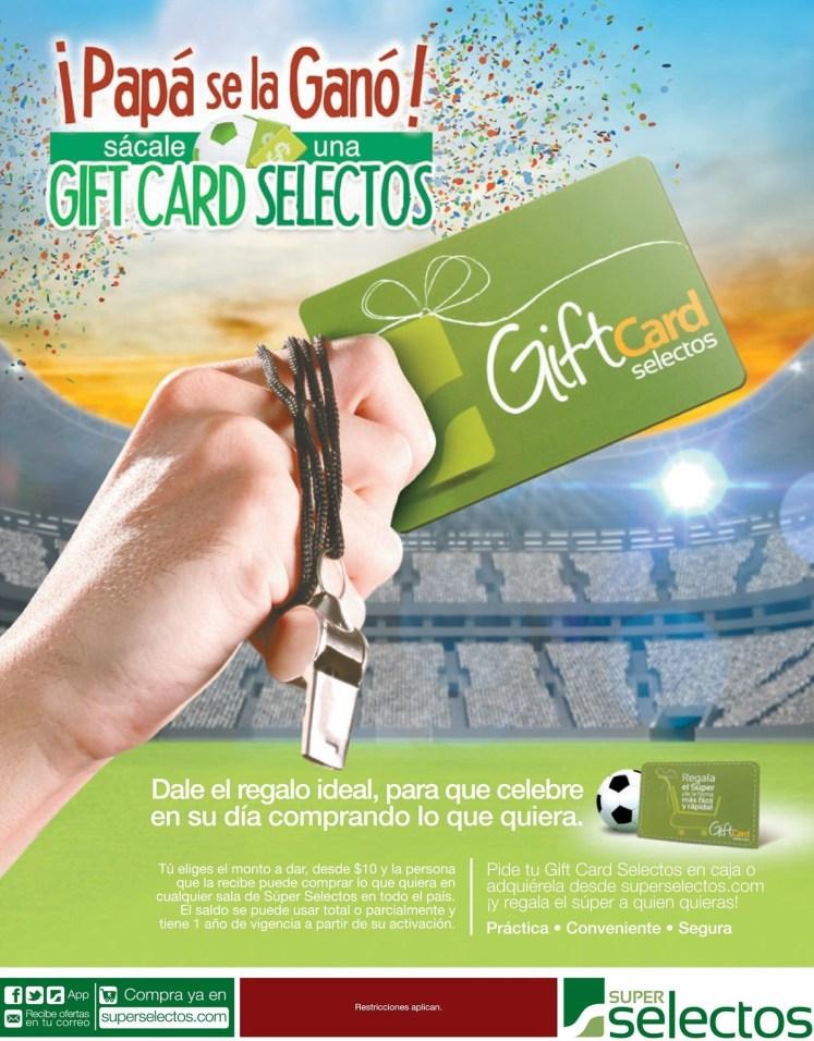 PAPA se la GANO gift card selectos