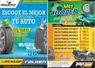 TIRES promotion dunlop cooper - 02jun14