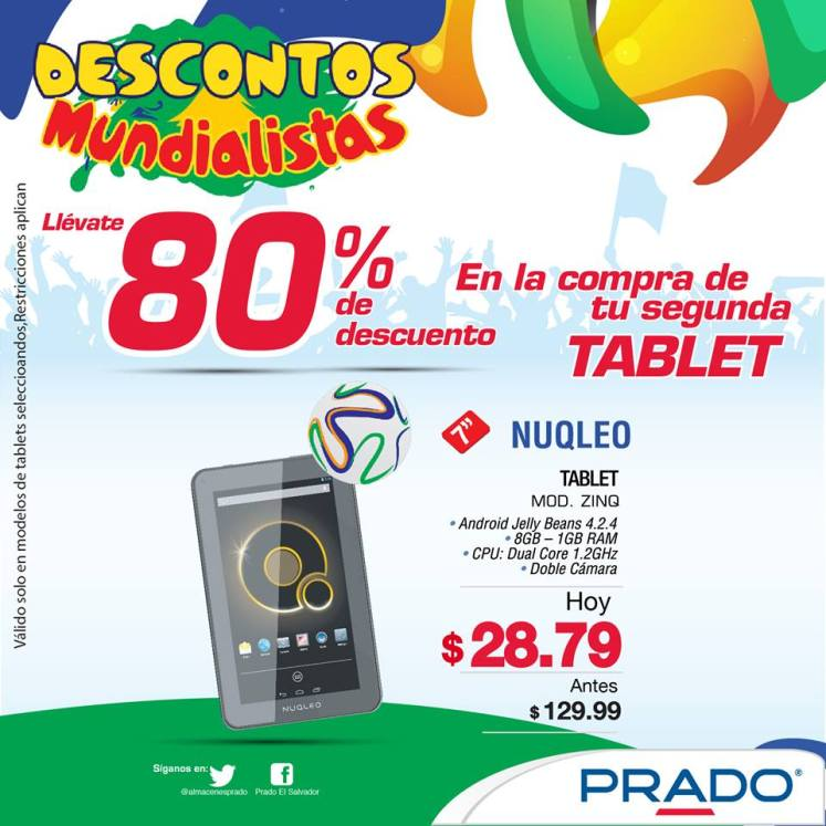 Tu segunda tablet con 80 OFF PRADO - 25jun14