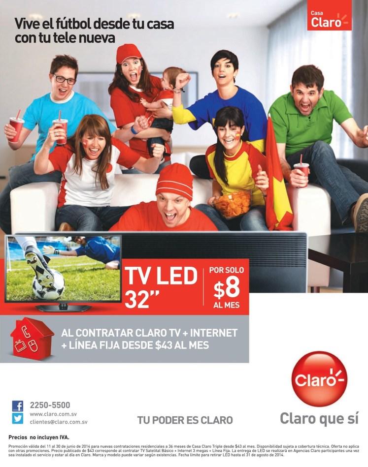 Vive el futbol desde tu casa TV LED gracias CLARO - 11jun14