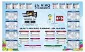 anota los resultados en el Calendario de juegos BRASIL 2014