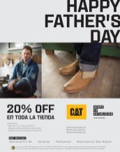 calzado CAT 20 OFF life style CAT stores - 13jun14