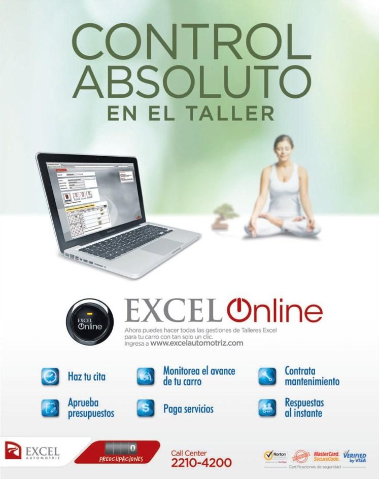 nuevo servicio Excel automotriz CONTROL excel online - 14jun14