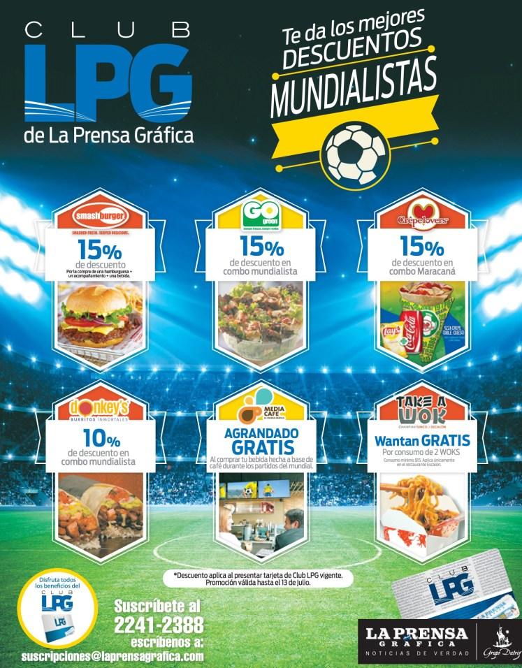 Descuentos en comida rapida MUNDIAL brasil 2014 - 02jul14