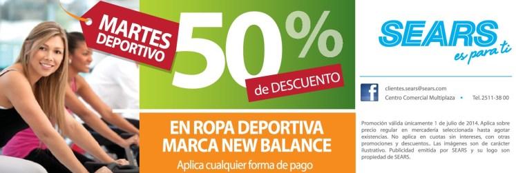 Discunt sport wearing NEW BALANCE sears el salvador - 01jul14