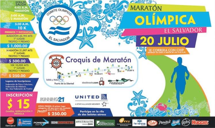 Maraton OLIMPICA el salvador 2014