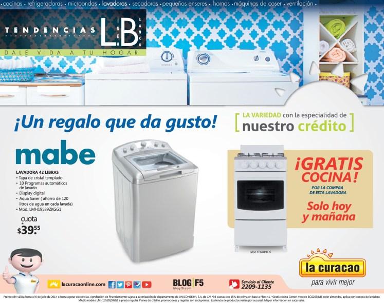 Oferta Lavadora MABE 42 libras gratis cocina - 05jul14