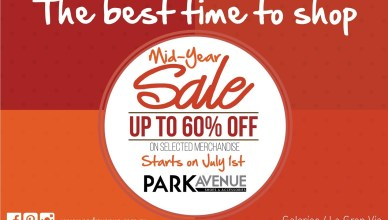 TIME to SHOP mid year sale DISCOUNTS park avenue - 01jul14