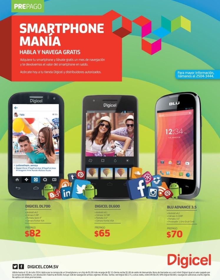 smartphone prepago promociones DIGICEL el salvador - 05jul14