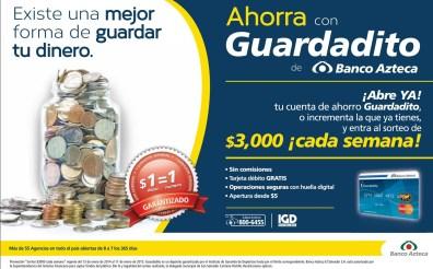 AHORRA tu dinero en Banco Azteca y GANA cada semana - 17sep14