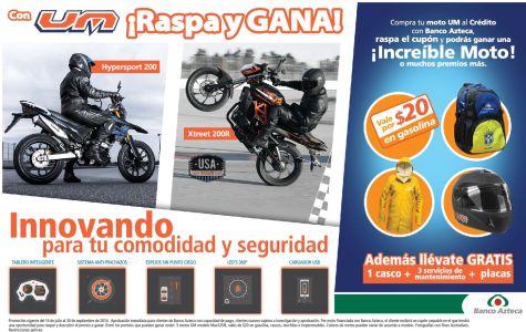 Banco Azteca promocion motos UM - 15sep14