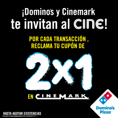 CUPON para CINEMARK por tus compras en DOMINOS PIZZA ofertas - 25sep14