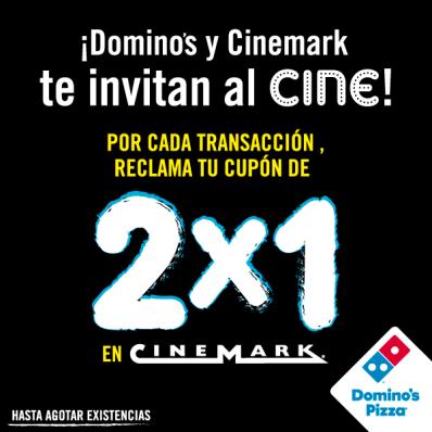 CUPON para CINEMARK por tus compras en DOMINOS PIZZA ofertas - 25sep14