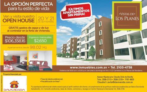 Comprar casa en los planes de renderos - 19sep14