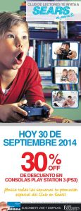 Comprar play station 3 DISOCUNTS sears - 30sep14