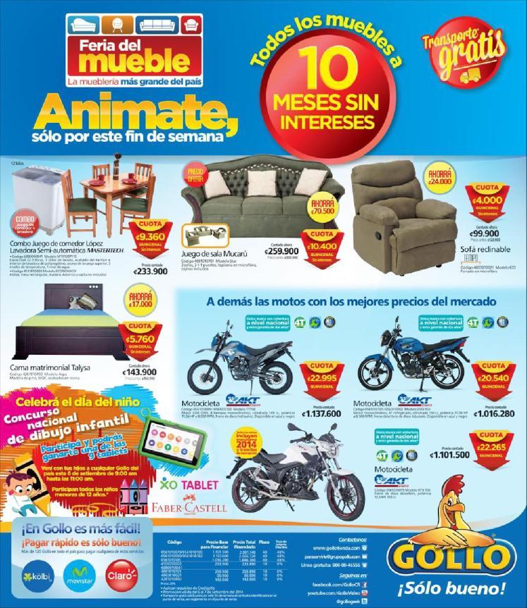 En GOLLO es mas facil animate compra tus muebles - 07sep14
