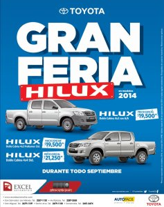 Gran feria HILUX Toyota pick up - 17sep14