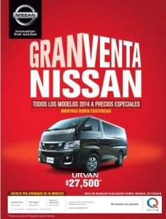Gran venta NISSAN todo los modelos 2014