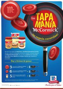 McCorminck promocon TAPA MANIA te regala cacerolas - 29sep14