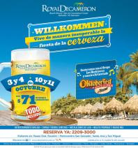 OKTOBERFEST 2014 willkommen royal decameron beach RESORT