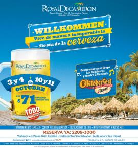 OKTOBERFEST 2014 willkommen royal decameron beach RESORT