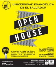 OPEN HOUSE studies Universidad evangelica de el salvador