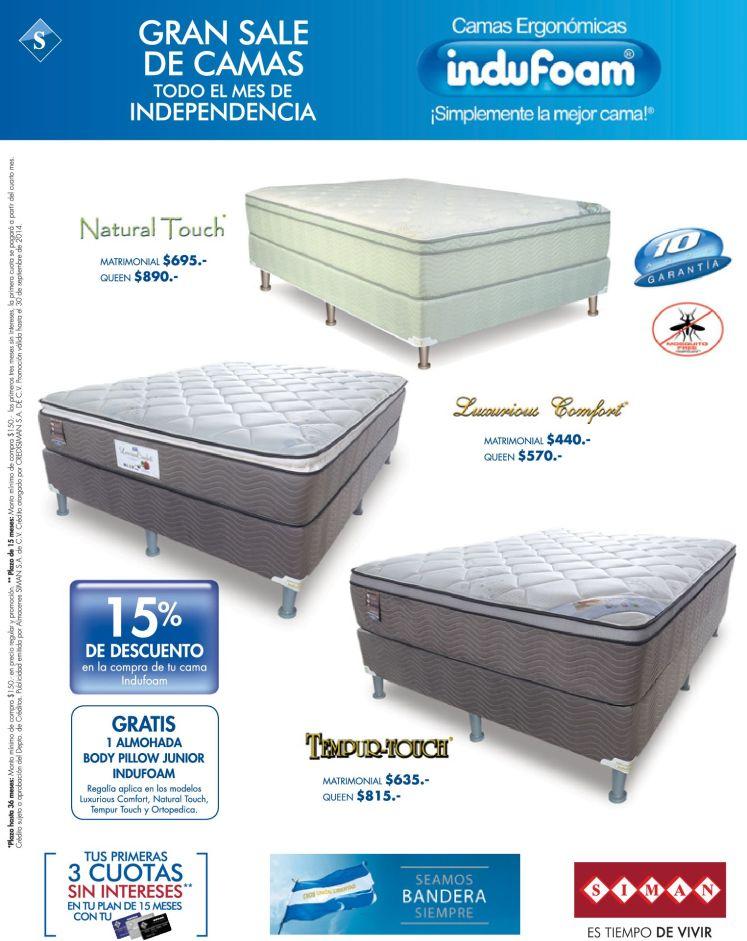 Ofertas de camas en siman 19sep14 ofertas ahora for Ofertas de camas