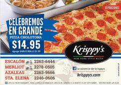PIZZA cholotona Krisppys el salvador - 15sep14