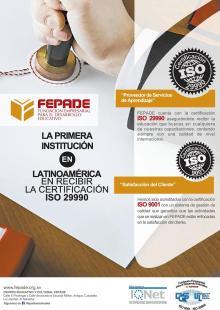 Primera institucion en latinoamerica con certificacion ISO 29990