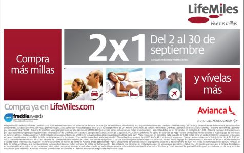 Promocion septembre LIFEMILES - 25sep14